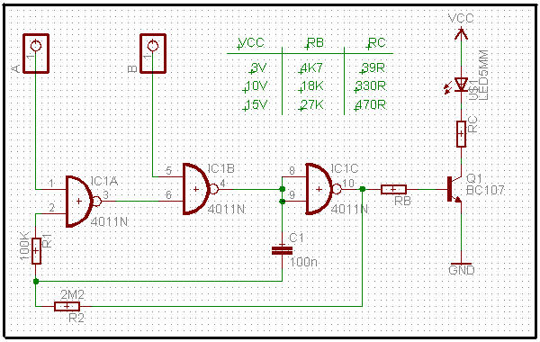 Circuito Led Intermitente : Este circuito esta construido alrededor de partes